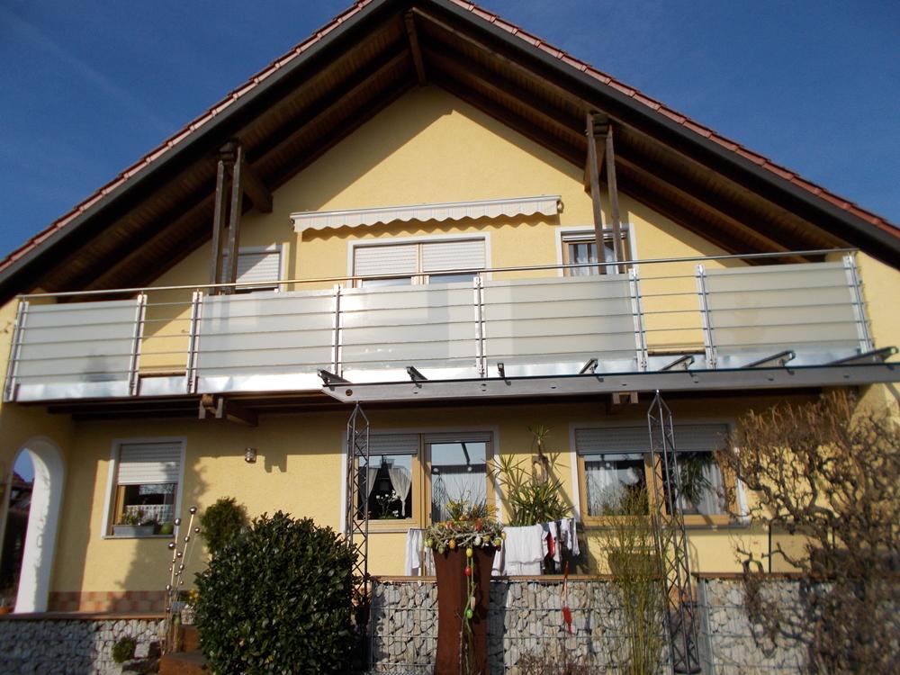 Gut gemocht Balkone: Balkon Edelstahlrohr mit Plexiglas Sichtschutz OH83